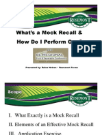 8. How to Conduct a Mock Recall Nelson