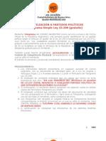 DESAFILIACIÓN A PARTIDOS POLÍTICOS instructivo ES POSIBLE C.A.B.A. (mbm)