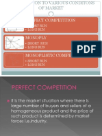 Introduction to Various Conditons of Market