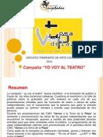 """Campaña """"Yo Voy Al Teatro"""""""