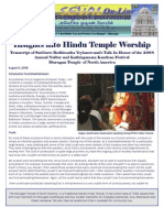 Insights Into Hindu Temple Worship