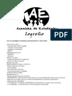 ACTAS ASAMBLEAS GENERALES Julio y Agosto