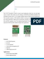 433 Mhz Rf Transmitter