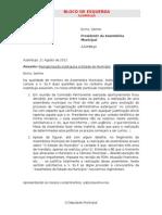 Carta sobre Reforma Administrativa e Assembleia do Estado do Município