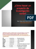 Cómo hacer un proyecto de investigación social