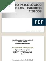 IMPACTO PSICOLÓGICO   CAMBIOS FÍSICOS ADOLESCENCIA