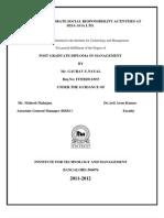 Golu's Report on CSR