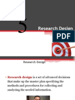 Chapter 5 - Research DesigXn