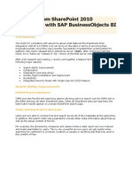 Features From SharePoint 2010 Integration With SAP BusinessObjects BI 4