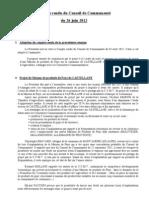 Compte Rendu Du 26.06.2012