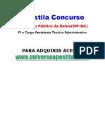 Apostila MP-BA Assistente Técnico Administrativo +Brindes [www.universoapostilas.com]