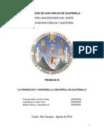 PROMOCIÓN Y DESARROLLO INDUSTRIAL EN GUATEMALA, grupo #1