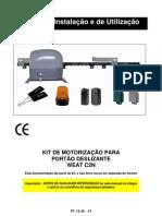 Motor Portão deslizante Kit e manual instalar