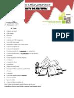lista de material2012 4º ano