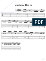 A Minor Pentatonic Box Exercise