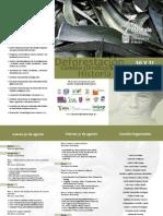 Tríptico Coloquio de Cultura e Historia Socioambiental
