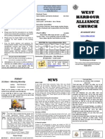 Church Newsletter - 26 August 2012