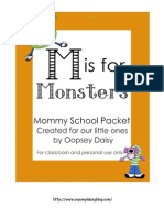 M is for Monsters