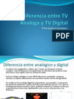 Diferencia Entre TV Analoga y TV Digital