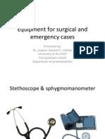 Dr. Joaquin Masoud C. Shafiee-surgery Equipment in emergency case