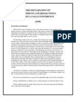 MRS. PACKARD the Declaration of Sentiments, Seneca Falls Hyperlink