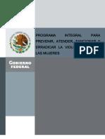 Programa Integral Para Prevenir, Atender, Sancionar y Erradicar La Violencia Contra Las Mujeres