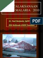 Tatalaksana Malaria 2010