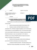 Plaintiff's Amended ADA Accommodation Request, 05-CA-7205, Mar-05-2007