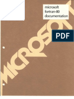 Microsoft FORTRAN-80 Ver3.4 Users Manual Nov80