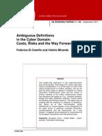Di Camillo Emiranda . Ambiguous Definitions in the Cyber Domain