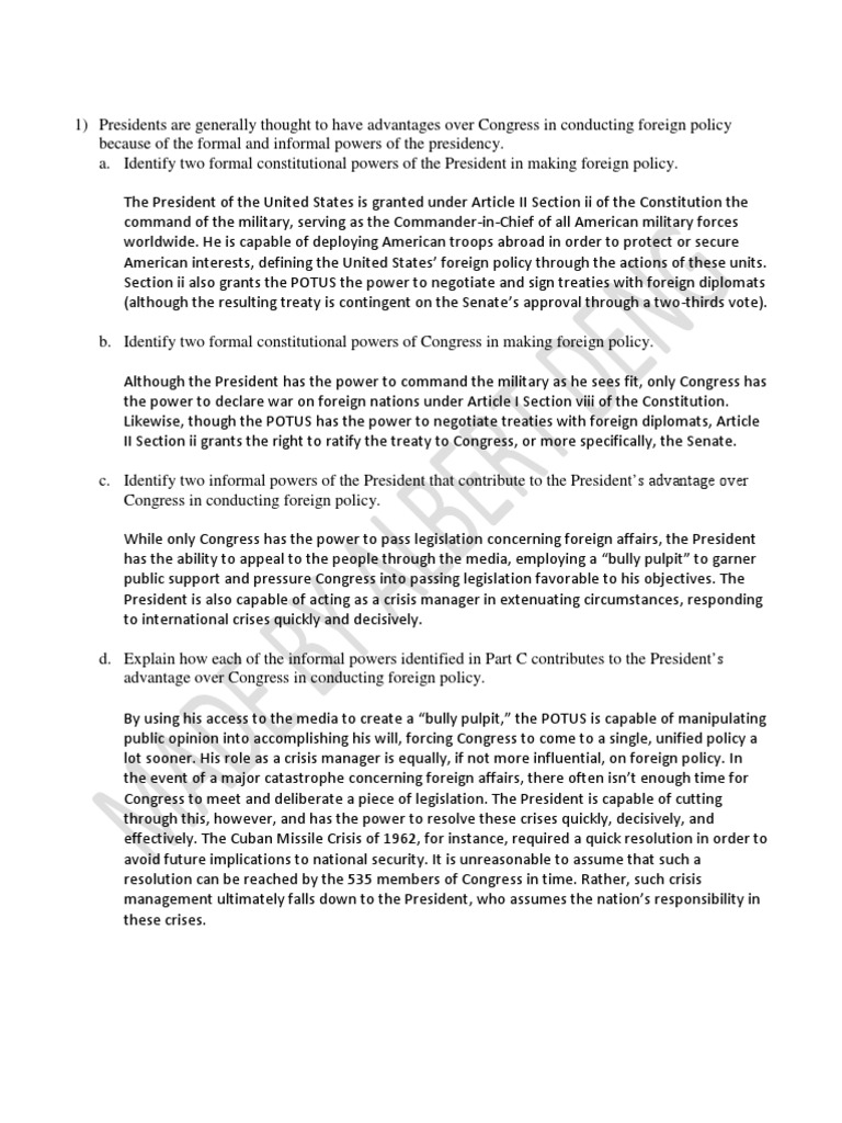 us foreign policy essay foreign policy essay for the final docx  apgov unit essay questions