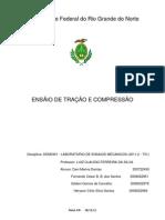 Relatorio de Ensaios Tração Compressão ( Tensile test and compression )