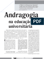 Andragogia na Educação Universitária