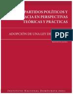 Partidos Políticos y Democracia en Perspectivas Teóricas Prácticas