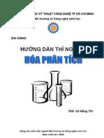 70649635 Giao Trinh Thi Nghiem Hoa Phan Tich DH Ky Thuat CN HCM