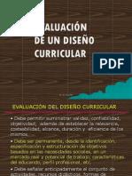 EVALUACIÓN DEL DISEÑO CURRICULAR