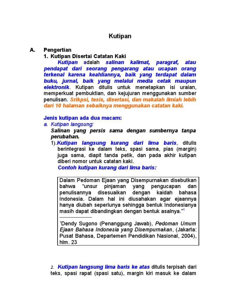 Contoh Catatan Kaki Sebuah Buku Contoh 193 Download Gambar Online