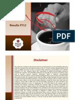 DEMB FY12 Results Media