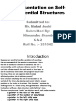 A Presentation on Self-Referential Structures