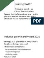 Inclusive Growth - Presentation by Prof. Jock Stirrat
