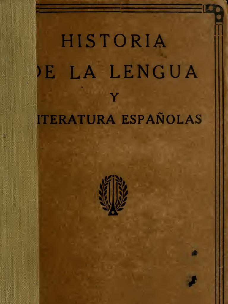 Sanchez Jose Rogerio - Historia De La Lengua Y Literatura Españolas ...