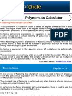 Factoring Polynomials Calculator