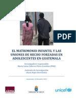 Investigación Matrimonio Infantil Forzado CIRMA UNICEF 2011