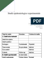 Studii Epidemiologice Experimentale
