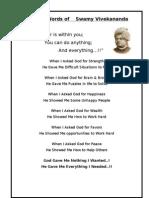 Golden Words of Swamy Vivekananda