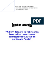 Aditivi Folositi La Fabricarea Bauturilor Racoritoare Carbogazoase - Sucul de Portocale Fanta