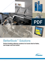 Nordson BetterBook PUR & EVA Adhesive Application Systems for Spine & Side Gluing