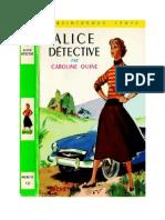 Caroline Quine Alice Roy BV 01 Alice Détective 1930