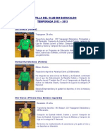 PLANTILLA DEL CLUB BM BARAKALDO TEMPORADA 2012 – 2013