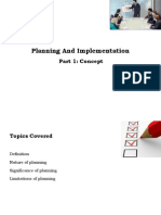 Planning and Implementation New